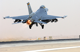 F-16 taking off in Iraq