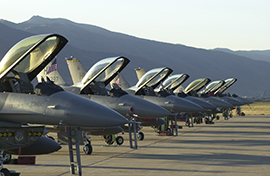F-16s on flightline after 9/11