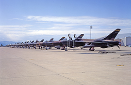 F-105s on the Hill AFB flightline
