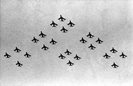 24 F-105s in midair formation